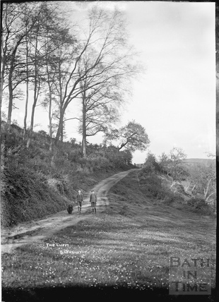 Walking the dogs along The Cliff, Batheaston c.1920s