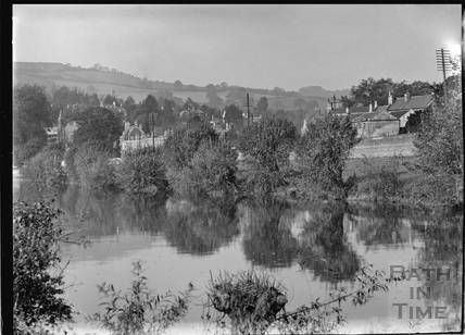View of Stambridge, Batheaston from across the River Avon c.1920s