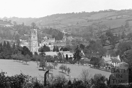 View of Northend Batheaston c.1920 - detail