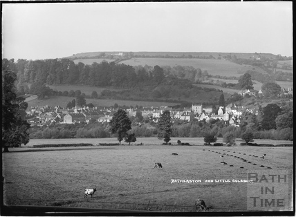 View of Batheaston with Little Solsbury in the background c.1937