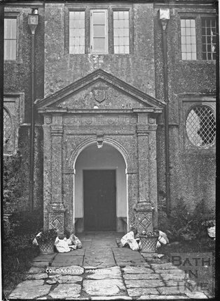 Main doorway, Cold Ashton Manor, c.1920s