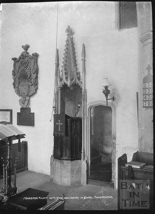 Inside Cold Ashton church c.1920s