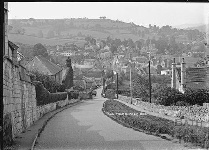 View of Box from Quarry Hill 2 Sept 1938