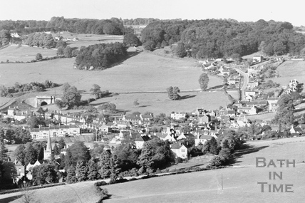View of Box from Kingsdown c.1939 - detail