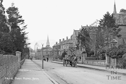 Prior Park Road c.1920 - detail