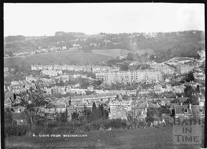 View of Widcombe from Beechen Cliff, Bath No. 6 c.1920