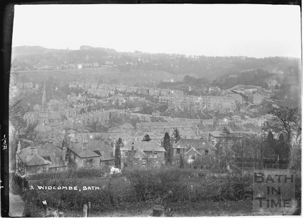 View of Widcombe from Beechen Cliff No.3 1 March 1921