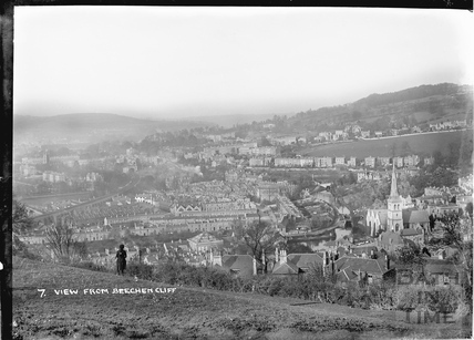 View of Widcombe from Beechen Cliff, Bath No.7 c.1920