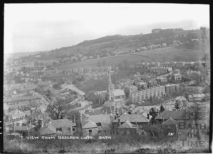 View of Widcombe from Beechen Cliff, Bath No.4 c.1920