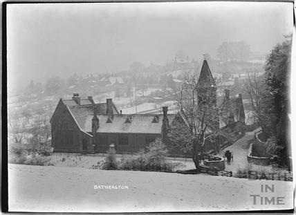 Batheaston School in winter c.1920s
