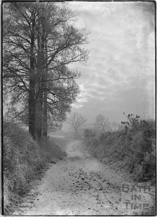 Warleigh Lane in winter c.1920s