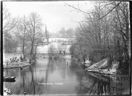 Warleigh Ferry in the winter c.1907