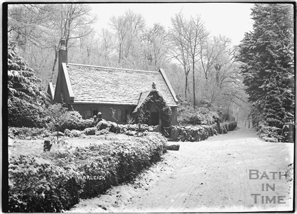 The lodge at Warleigh Manor in winter c.1920s