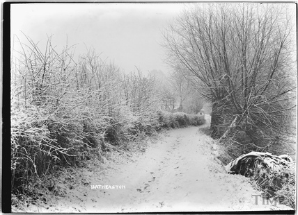A lane in Batheaston in winter c.1920s