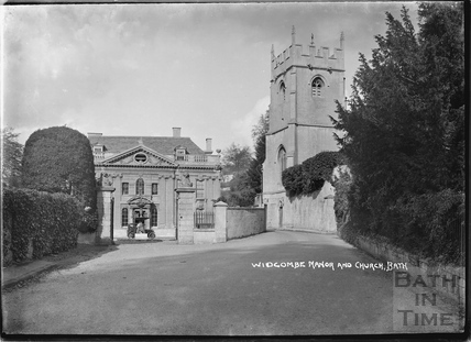 Widcombe Manor and church, c.1929