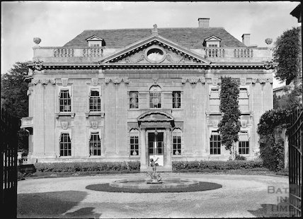 Widcombe Manor, front elevation c.1929