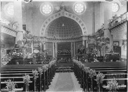 St James Church interior c.1920s