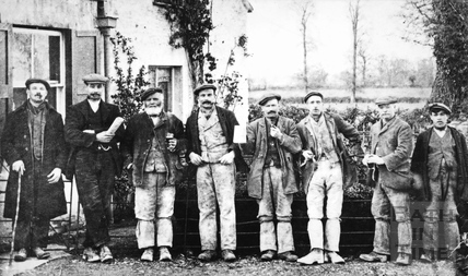 An unidentified group of quarrymen