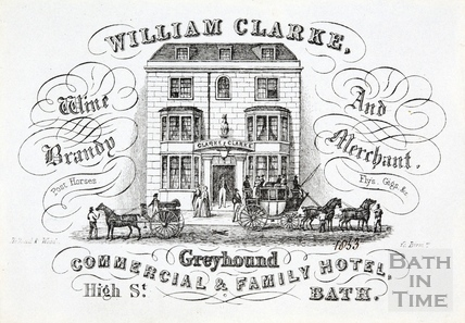 Trade card for The Greyhound, High Street 1853