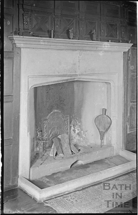 Cold Ashton Manor fireplace, 1935