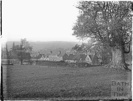 View across the meadow to Bathampton Lane c.1920s