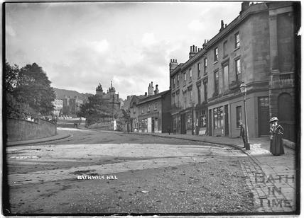 View up Bathwick Hill c.1910