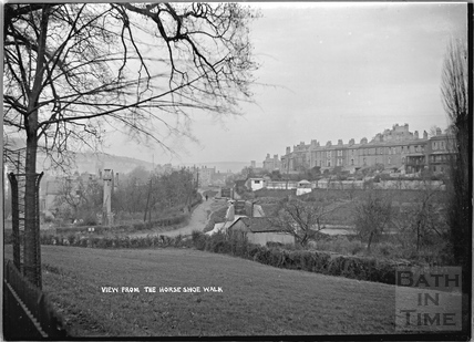 View from Horseshoe Walk along the Kennet and Avon Canal, Bath c.1920