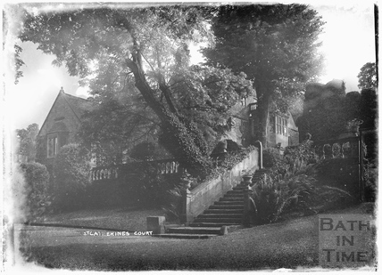 St Catherines Court and steps leading to entrance 1922
