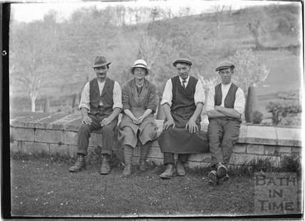 A group of estate workers, St Catherines Court 1922