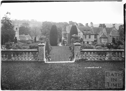 The church and St Catherines Court from the garden No.9 C.1920s