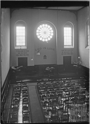 Inside the Church of Christ Scientist, Charlotte Street c.1920s