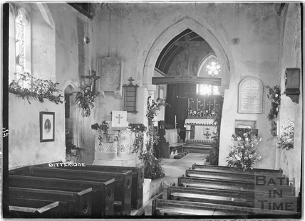 Inside the church at Ditteridge April (?) 1935