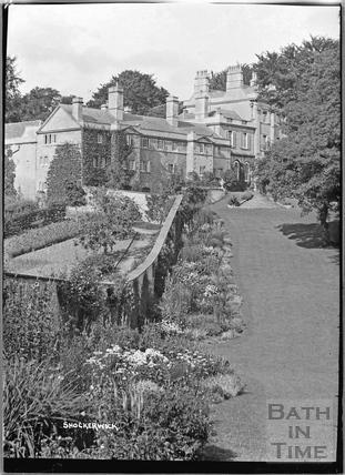 Shockerwick House and garden c.1920s