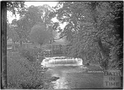 The brook, sluice and weir at Shockerwick c.1920s