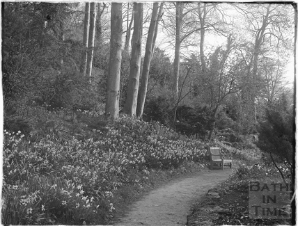 Garden walk in the Spring at Iford Manor 1926