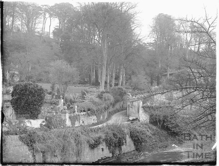 The river, lane and Peto Gardens at Iford Manor 1926