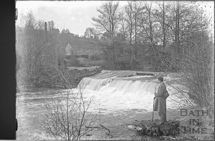 The weir at the Mill at Freshford c.1920s