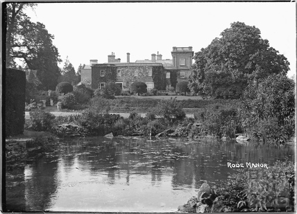 Rode Manor viewed across the pond c.1935