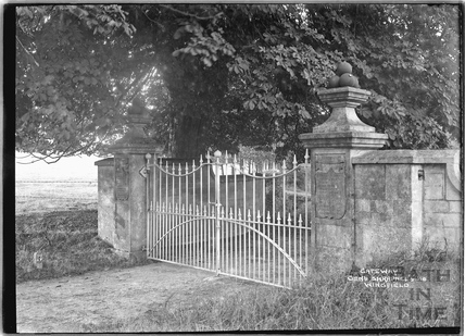 The gateway to General Shrapnel's House, Wingfield c.1932