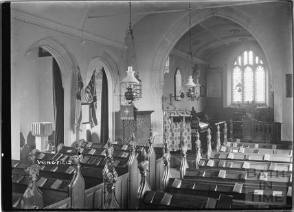 Inside Wingfield Church, 1932