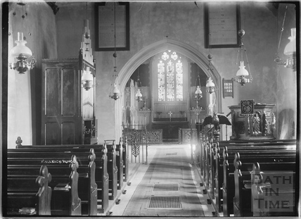 Inside the church at Farleigh Hungerford c.1920s