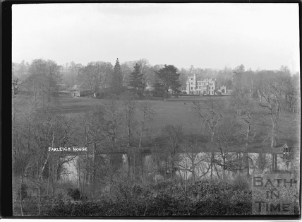 View of Farleigh House, Farleigh Hungerford c.1920s