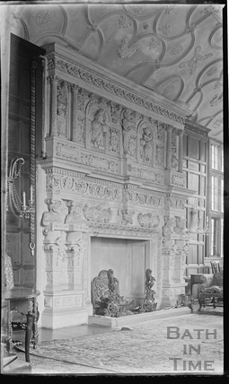 The fireplace, South Wraxall Manor 1935