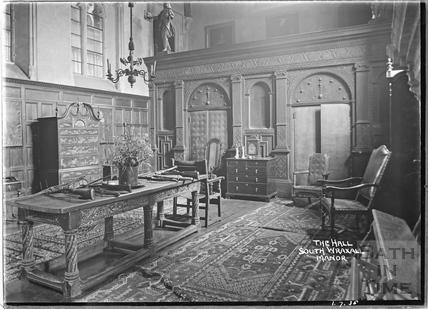 The hall at South Wraxall Manor 1 July 1935