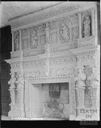 The fireplace at South Wraxall Manor c.1920s