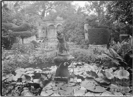 Garden pond and fountain, Cheney Court c.1920s