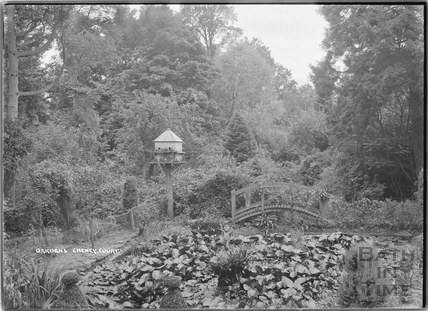 Gardens and lily pond, Cheney Court c.1920s