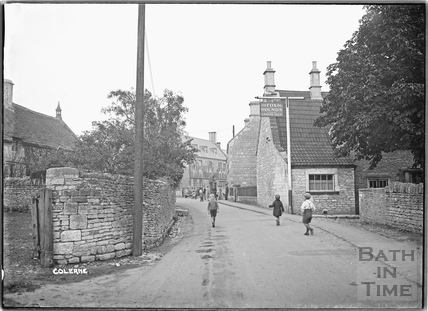 Children playing in the street outside The Fox & Hounds, Colerne, c.1933