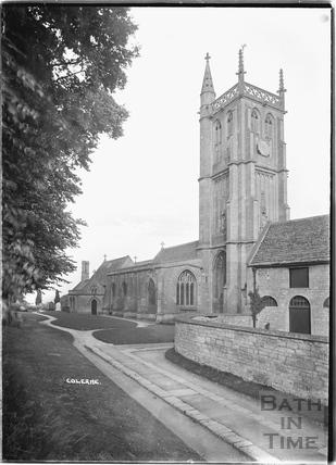St John the Baptist church at Colerne c.1935