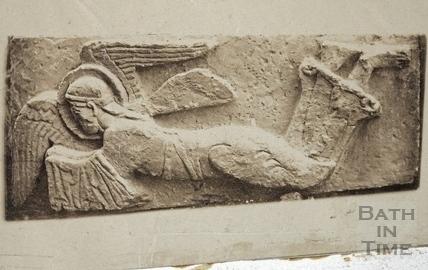 Plaster cast of stone angel from Saxon Church, Bradford on Avon 1875